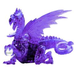 Purple Dragon Dragons Crystal Puzzle