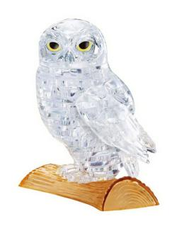 White Owl Owl Crystal Puzzle