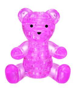 Pink Teddy Bear Bears Crystal Puzzle