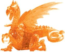 Orange Dragon Dragons Crystal Puzzle