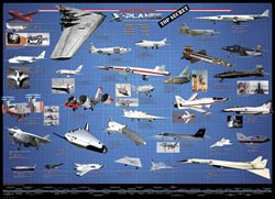 American X-Planes Military Jigsaw Puzzle