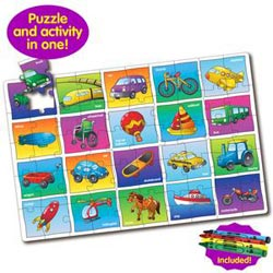 Puzzle Doubles Let's Learn Transportation Vehicles Jigsaw Puzzle