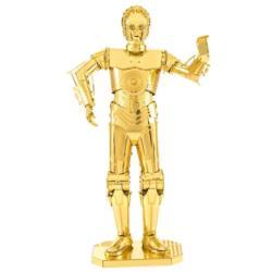 Gold C-3PO Sci-fi Metal Puzzles