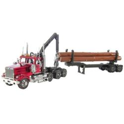 Western Star 4900 Log Truck & Trailer Cars Metal Puzzles