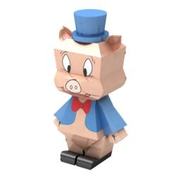 Porky Pig Pig Metal Puzzles