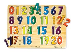 Sound Puzzle - Numbers Math Children's Puzzles