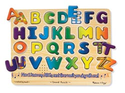 Alphabet Language Arts Wooden Jigsaw Puzzle