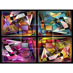 Bling Bling Abstract Abstract Impossible Puzzle
