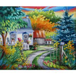 Chez Les Voisins Cottage / Cabin Jigsaw Puzzle