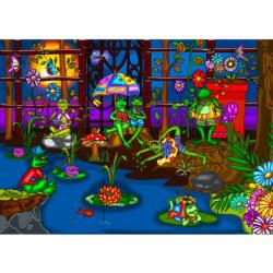 Frogs' Summer Camp Frog Jigsaw Puzzle