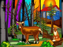 My Deer Friend Cottage / Cabin Jigsaw Puzzle