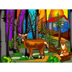 My Deer Friend Cottage / Cabin Jigsaw Puzzle