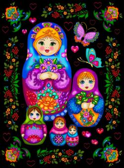 Russian Dolls Cultural Art Jigsaw Puzzle