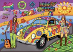 Peace and Love Nostalgic / Retro Jigsaw Puzzle