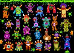 25 Little Monsters and One Chicken Fantasy Jigsaw Puzzle