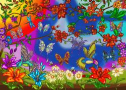 Butterflies and Hummingbirds Butterflies and Insects Jigsaw Puzzle