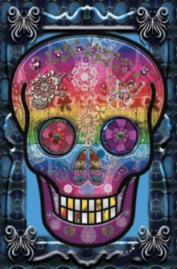 Skull (Mini) Day of the Dead Miniature Puzzle