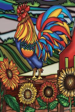 Rooster (Mini) Sunflower Miniature Puzzle
