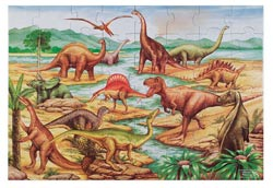 Dinosaurs Lakes / Rivers / Streams Jigsaw Puzzle