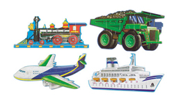 Going Places - Floor Vehicles Jigsaw Puzzle