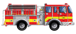 Giant Fire Truck Vehicles Children's Puzzles