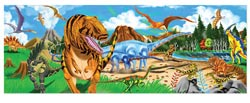 Land of Dinosaurs - Floor Dinosaurs Jigsaw Puzzle