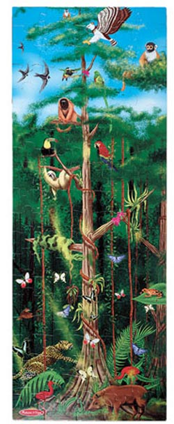 Rain Forest Floor Jungle Animals Children's Puzzles