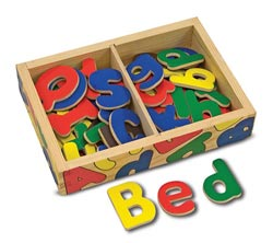 Magnetic Wooden Alphabet Language Arts Children's Puzzles