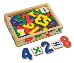 Magnetic Wooden Numbers Math Children's Puzzles