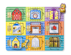 Magnetic Hide & Seek Everyday Objects Children's Puzzles
