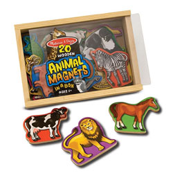 Magnetic Wooden Animals Farm Animals