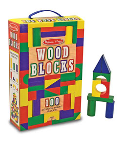 100 Wood Blocks Set Toy