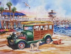 Dog Days of Summer (California Dreams) Nostalgic / Retro Jigsaw Puzzle
