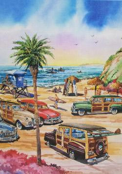 Encinitas Seascape / Coastal Living Jigsaw Puzzle