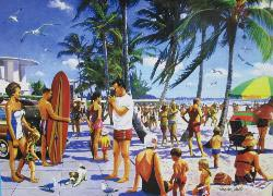 Lido Beach (California Dreams) Seascape / Coastal Living Jigsaw Puzzle