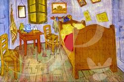 Bedroom at Arles Impressionism Wooden Jigsaw Puzzle
