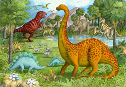 Dinosaur Pals - Scratch and Dent Landscape Children's Puzzles