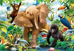 Jungle Juniors Jungle Animals Floor Puzzle