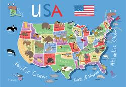 USA Map Maps Children's Puzzles