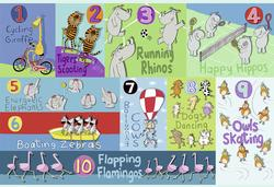 Counting Animals Math Children's Puzzles