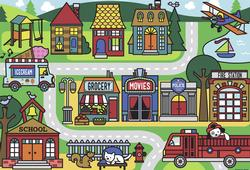 City Streets Cartoons Children's Puzzles