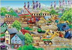 Busy Building Construction Jigsaw Puzzle