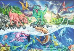 Land & Sea Dinos Cartoons Children's Puzzles