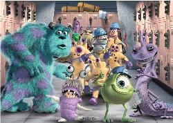 The Whole Gang  (Monsters Inc.) Cartoons Children's Puzzles