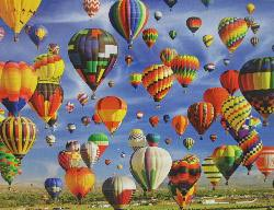 Hot Air Balloon Mass Ascension, Albuquerque (Colorluxe 1000) Photography Jigsaw Puzzle
