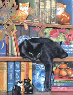 On the Shelf Cats Jigsaw Puzzle