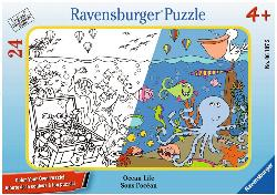 Ocean Life Under The Sea Coloring Puzzle