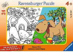 House Pets Dogs Coloring Puzzle