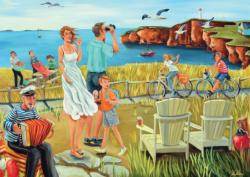 Ocean View People Jigsaw Puzzle