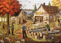 Sawmill Fall Jigsaw Puzzle